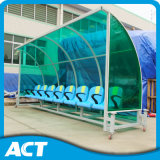 Outdoor Portable Football Team Shelter / Player assentos com banco de alumínio