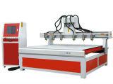 Ranurador rotatorio 1325, ranurador de madera del CNC del eje de 1325 hachas de la alta calidad 4 del CNC de 4 ejes para el metal suave, aluminio, MDF