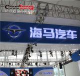Kurbelgehäuse-Belüftung Chrom Backlit LED Firmenzeichen-Zeichen bekanntmachend