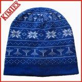 冬によって編まれるジャカード帽子の帽子の帽子