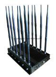 De mobiele Stoorzender van het Signaal met 12 Antennes die Al 2g, 3G blokkeren, 4G GPS Stoorzender