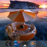 Canoa barbacoa barco con energía verde
