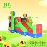 Het Springen Combo van het Kasteel van Tricolor het Opblaasbare Kasteel van de Dia van Bouncy van het Huis voor Jonge geitjes