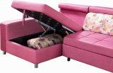 Base di sofà d'angolo, sofà del Chaise del tessuto, sofà da vendere