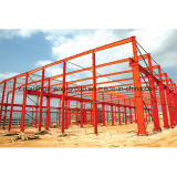 鉄骨構造フレームのプレハブの倉庫