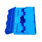 Comercio al por mayor colorido cuadro plegable de plástico con tapa para almacenamiento