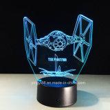 laser 3D gravant la lampe acrylique de nuit avec l'éclairage LED