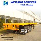 3 assen Flatbed 40FT en 20FT de Semi Aanhangwagen van de Vrachtwagen van het Vervoer van de Container voor Verkoop