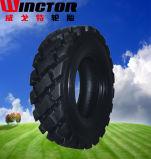 12-16.5 Fester Rotluchs-Gummireifen mit Rad, Schienen-Ochse-fester Reifen 12-16.5