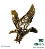 カスタマイズされた金属の鳥のロゴの堅いエナメルの折りえりPinのバッジ(XD-0202)