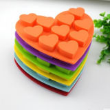 Coeur coloré écologique personnalisé Personnaliser les moules de gâteau au silicium