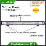 Lignes 180W triple barre LED 3 rangées barre LED faisceau Combo