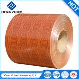 Le bois comme les bobines en aluminium à revêtement de matériaux décoratifs haut de gamme