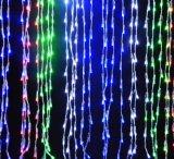 Décoration de vacances de vacances de construction de lumière de cascade à écriture ligne par ligne de DEL