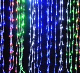 LEDの滝ライト建物の休日の休日の装飾