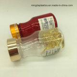 bottiglia farmaceutica libera rossa ambrata 60ml per le capsule con il coperchio a vite per il ridurre in pani