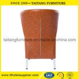 Metal moderno do estilo chinês que janta a cadeira com coxim da espuma