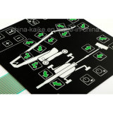 Custom Tactile Buttons membrane overlay operation SWITCH with LCD CLEAR Window