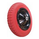 Rotella della carriola della rotella 3.00-8 del pneumatico dell'unità di elaborazione di colore rosso
