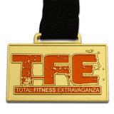De Medaille van het Volleyball van het metaal met het Afgedrukte Ijzer van de Sticker in Gouden Kleur