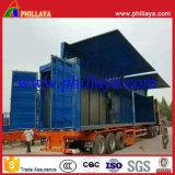 Dos alas abren el aluminio Cimc Container Van Semi Trailer