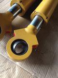 Cilindro ativo dobro do petróleo hidráulico com o único pistão Rod do aço inoxidável