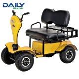 24V 1500W de potencia firme asiento doble Scooter de movilidad eléctrica con Tops y gran cesta de la parte trasera