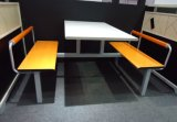 Fast food Restaurant Table e Chair de barato 4 Seater