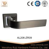 Ручка рукоятки двери черного цвета сатинировки алюминиевая на розетке (AL206-ZR09)