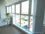 Portes et fenêtres en aluminium coulissantes en aluminium teinté vert naturel