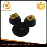 Garniture en caoutchouc d'appui de Velcro rigide de 2 pouces pour la rectifieuse de polissage