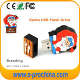 Movimentação 2017 do flash do USB da forma de Papai Noel do presente do Natal