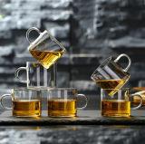 Tazza di tè di vetro di piccola dimensione di vetro di colpo della tazza di tè di vetro di Borosilicate di Kung Fu della tazza di tè