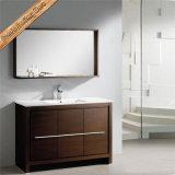 Hölzerne Oberflächen-Badezimmer-Eitelkeit des Furnier-BlattFed-1084, Badezimmer-Schrank
