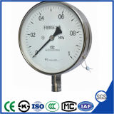 セリウムが付いている100mmのステンレス鋼の圧力計の圧力計