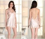 Пижамы Sy10302856 шелка и шнурка оптовых женщин Nightwear Sleepwear расчалки сексуальные