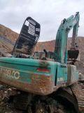 Máquina escavadora usada Kobelco Sk350-8 para a venda