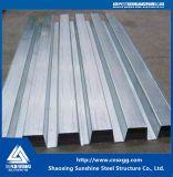 Tablier de plancher en acier galvanisé feuille (YX 65-186-558)