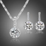 El oro de la manera de la fábrica de la joyería de China plateó el conjunto de cobre de cobre amarillo de la joyería