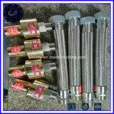 Aço inoxidável, borracha de metal trançado flexível do tubo de borracha de gás Flexibe