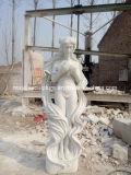 Scultura di marmo intagliata mano con la signora lunga Statue (SY-MS120) dei capelli
