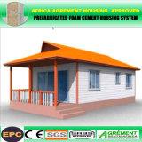 Cabina prefabricada de la casa de planta baja de la nueva casa prefabricada de lujo portable barata de los chalets