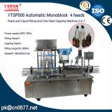 Máquina de enchimento e tampando do líquido Ytsp500 para o álcôol