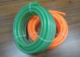 Grau industrial clara ou trançado de fibra alimentar do tubo de borracha de água de PVC