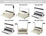 Boway 탁상 작은 사무실 수동 철사 3:1와 2:1 일기 책 바인더 기계 W25A