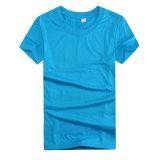 De douane drukte Uw Goedkoopste Overhemd van de Polyester van het Embleem voor Promotie af