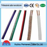 fil électrique parallèle de câble du haut-parleur 1.5mm2, rouge et noir transparent