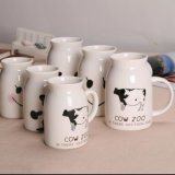 Подгоняйте выдвиженческую керамическую кружку бутылки молока фарфора чашки кружки молока