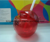 Caneca de plástico livre de BPA Bebidas criativas Copo de copa de palha de plástico