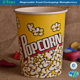 Papel descartável Popcorn Bucket Food Container Paper Bowl
